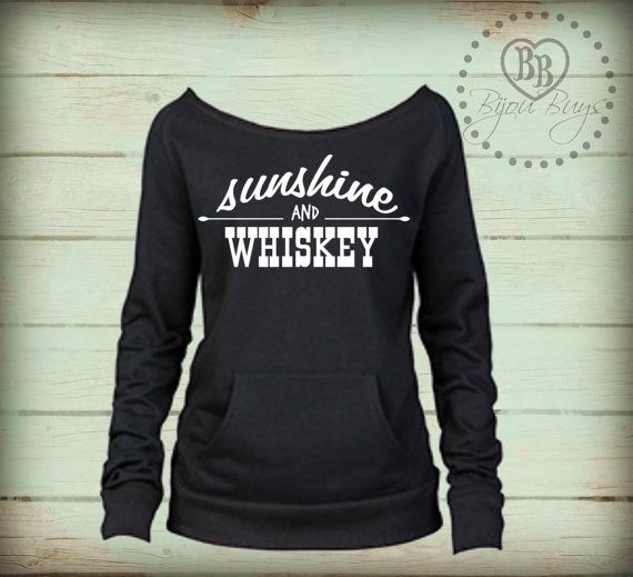 Sunshine And Whiskey - Frankie Ballard - Country Sweatshirt by BijouBuys ♥ Check out the whole store!
