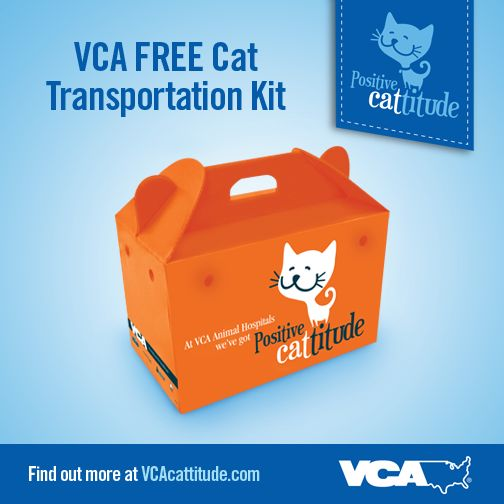 Traveling or taking your #cat to the vet? Our FREE Cat Transportation Kit makes it simple!