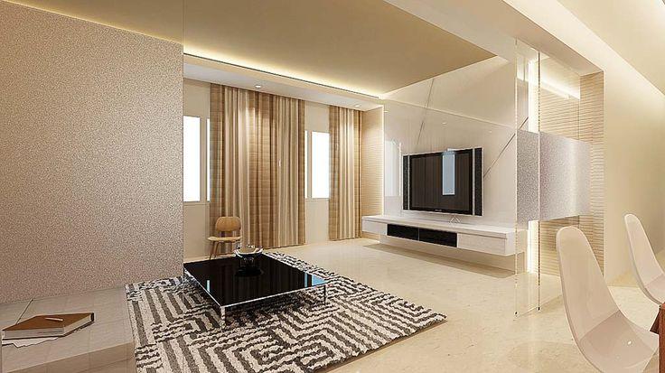 White elegant tv feature wall home decor living room for Feature wall living room designs