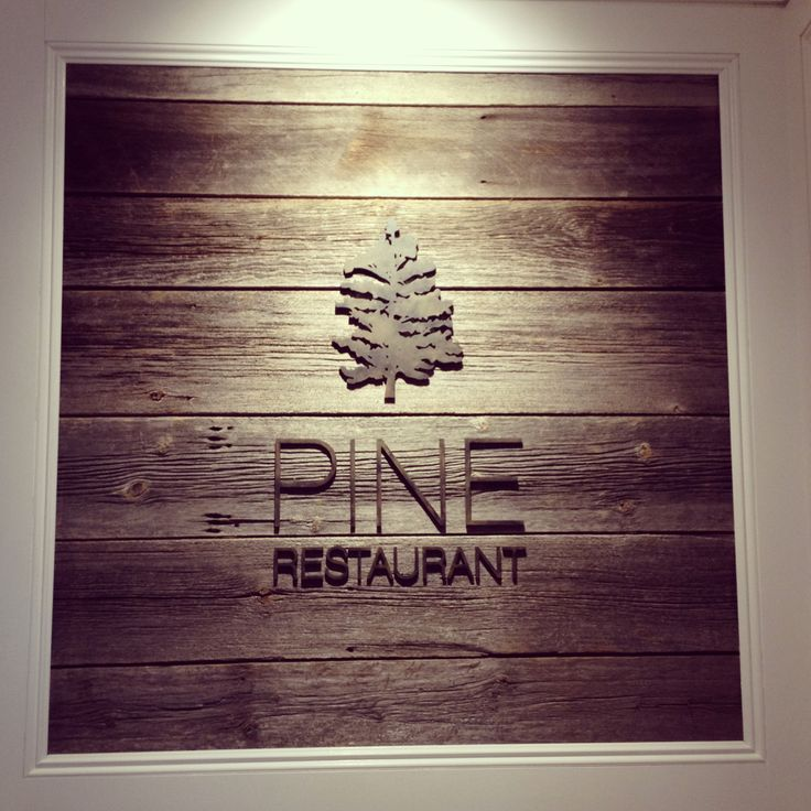 Love this look! PINE Rastaurant | www.LogoGestaltung-Hamburg.de