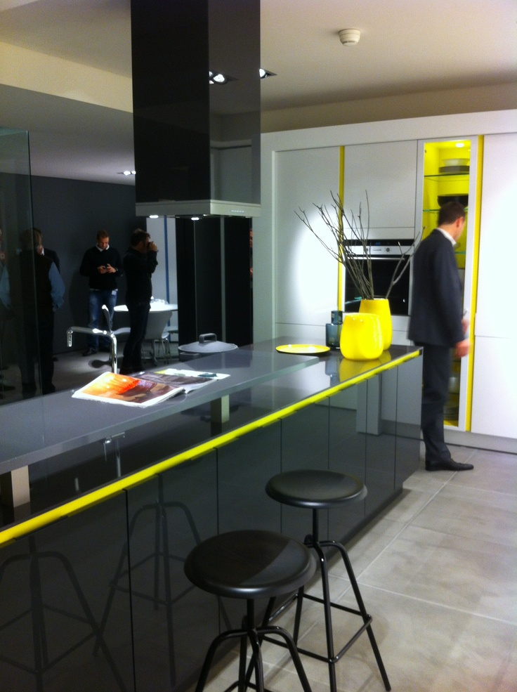 New S3 kitchen of SieMatic, nice touch of color