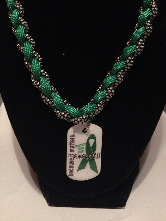 Traumatic Brain Injury Awareness Paracord by MichelesEmporium, $15.00