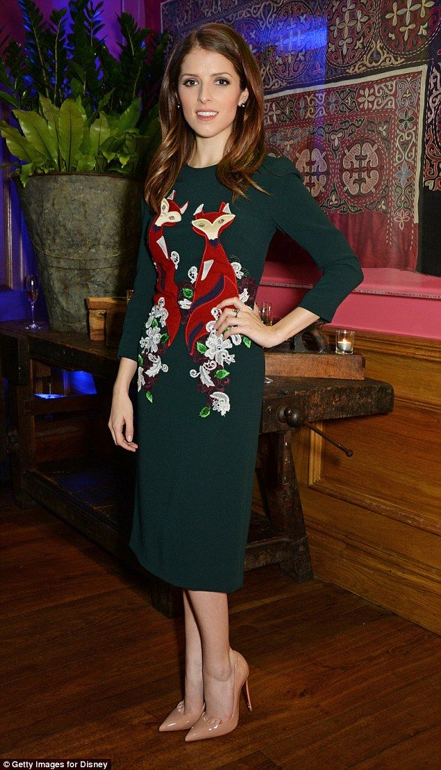 Looking foxy: Anna Kendrick was on fine form as she attended a special screening in London on Thursday evening