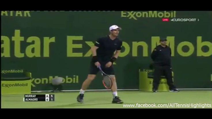 Andy Murray vs Nicolas Almagro (Set 1 Tiebreak) ATP Qatar ExxonMobil Ope...