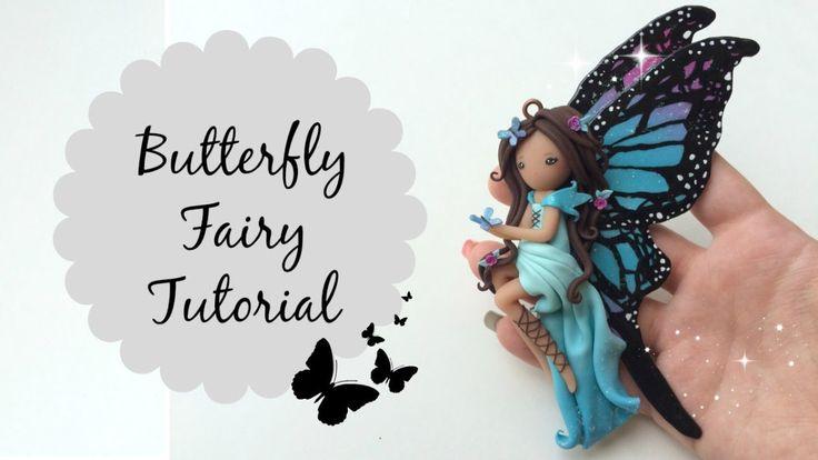 DIY Hada mariposa con porcelana fría