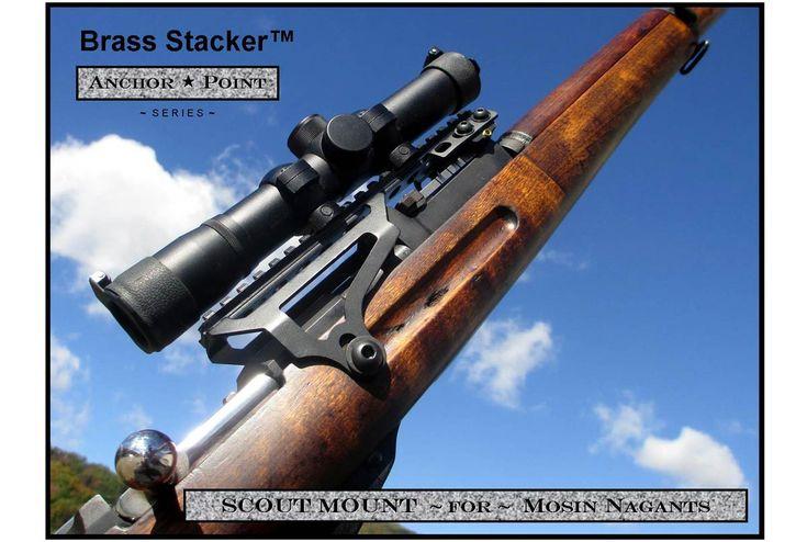 Mosin Nagant M9130 M38 M44 T53 Universal Fit Scout Scope Mount ONLY :: Universal Fit Mosin Nagant Scout Scope Mount :: Mosin Nagant Platform Products, 7.62x54r :: Brass Stacker™