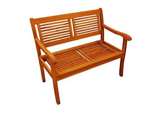SAM� Garten-Bank Cordoba aus Akazie-Holz, 110 cm Breite, 2 Sitzer Holzbank, Balkon-Bank aus Akazien-Holz ge�lt, Garten-M�bel braun, Massiv-Holz-Bank f�r Terrasse