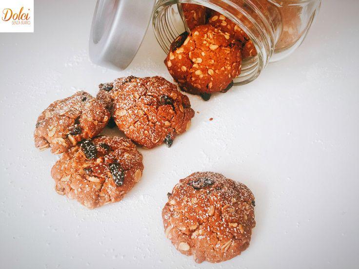 Biscotti all'Avena Senza Burro e Uova. leggeri sani e genuini di dolci senza…
