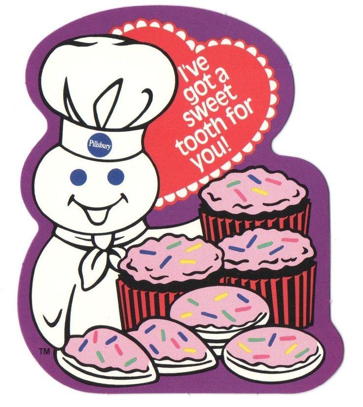 Vintage Valentine Card Pillsbury Doughboy Cupcakes Amp Heart