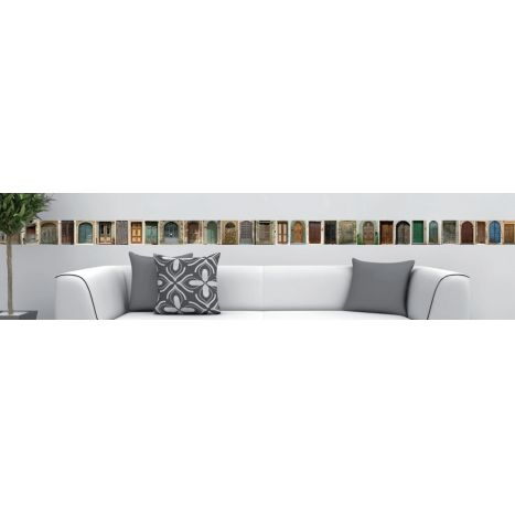 Collection de portes - stickers mural - frise adhésive repositionnable portes du monde entier