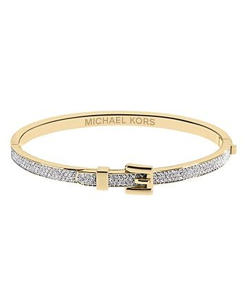 Michael Kors Pave Buckle Bangle Bracelet   Bloomingdale's