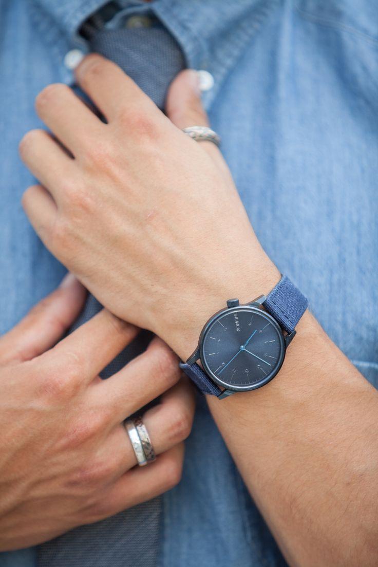 Blue Komono watch  #watch #details #fashionblogger