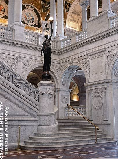 Library of Congress Grand Staircase - http://andrewprokos.com/photos/washington-dc/