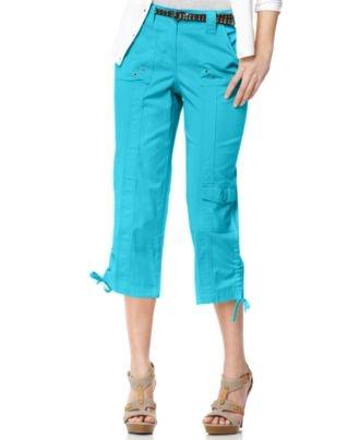 Style Pants, Straight Leg Drawstring Cropped Cargo - Womens Pants - Macy'sWomen Pants, Straight Legs, Pants Online, Legs Drawstring, Drawstring Crop, Crop Cargo, Style Co, Style Pants