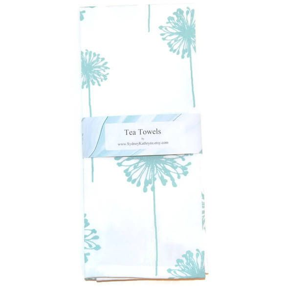 Tea Towels, Blue And White, Dish Towels, Set of 2, Decorative Kitchen Towels, Tea Towels, Blue and White Tea Towels by SydneyKathryns on Etsy