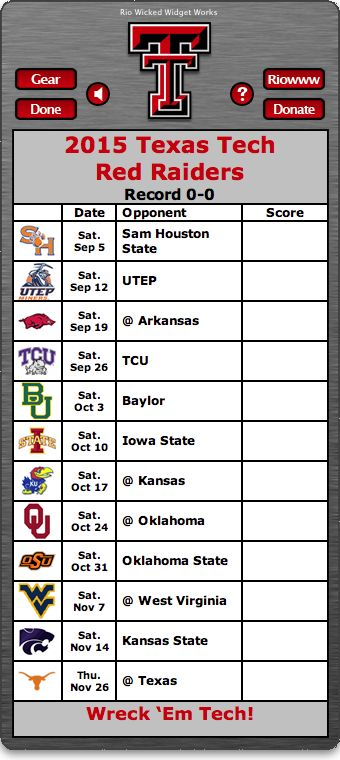BACK OF WIDGET - Free 2015 Texas Tech Red Raiders Football Schedule Widget for Mac OS X - Wreck 'Em Tech!  http://riowww.com/teamPages/Texas_Tech_Red_Raiders.htm