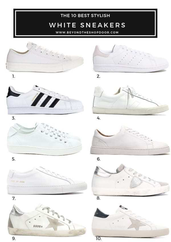 The 10 Best Stylish White Sneakers For Women In 2019 In 2020 White Sneakers Women Casual White Sneakers White Fashion Sneakers