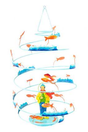 DECOILUZION - Móvil colgante decorativo El pescador