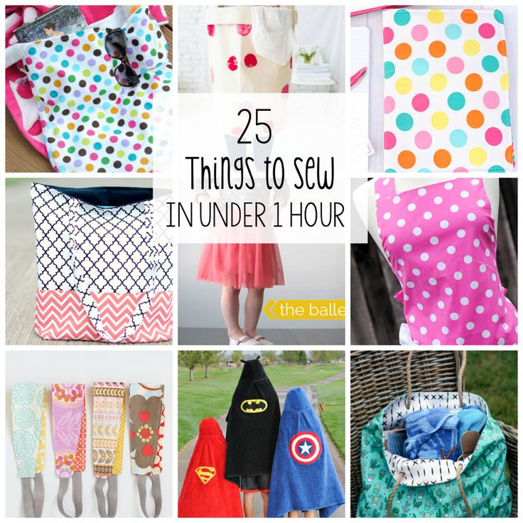 I get it guys! Many of you like to sew and you want easy projects that are quick and doable for you. You've loved my posts about 25 Things to Sew in Under 10 Minutes and also in Under 30 Minu…