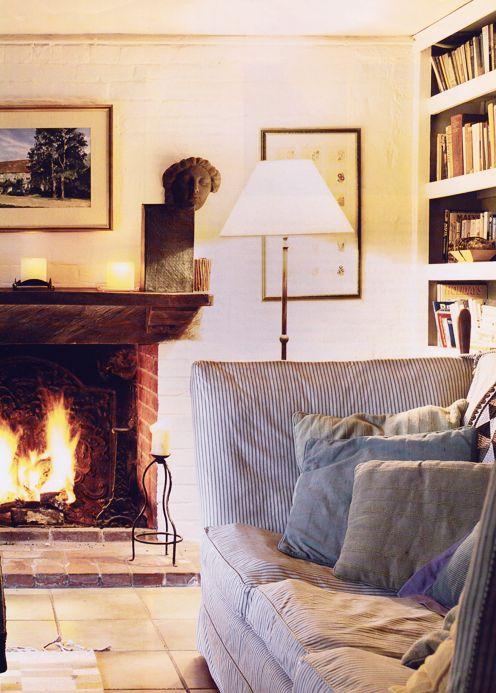 roaring fire. Cozy cozy
