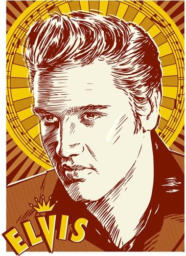 Elvis Pop Art Print 13x19 by RedRobotCreative on Etsy, $25.00