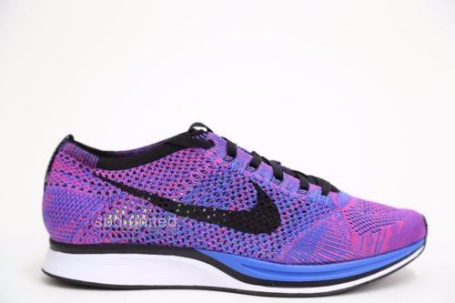new york 1344e 61f86 Nike-Flyknit-Racer-Game-Royal-Pink-Flash-Purple-526628-400-Multicolor    Shoes in 2019   Nike flyknit, Nike flyknit racer, Nike