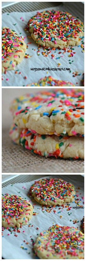 Bakery Style Sprinkle Cookies