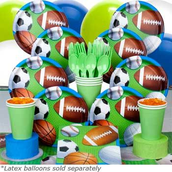 sports birthday party plates | Sports Party Decorations, Sport Party Plates, Cups, Favors