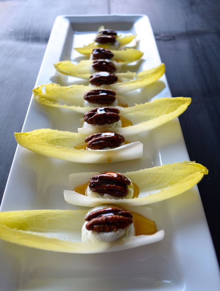 Endive with Blue Cheese Mousse and Caramelized Pecans