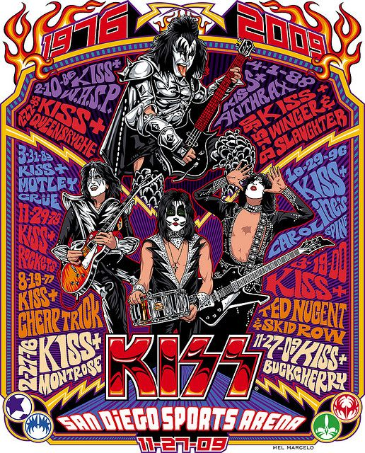 KISS  San Diego Sports Arena Concerts  1976~2009