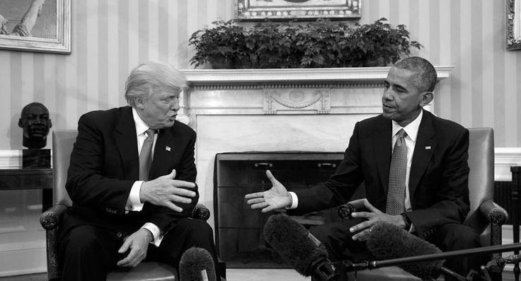 Vücut dili tersini söylese de: Obama, Trump'la görüşmesi için 'mükemmel' dedi