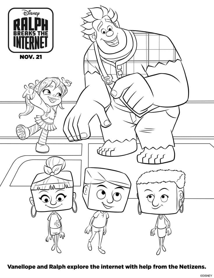 Free Disney Ralph Breaks The Internet Vanellope Coloring Page ...