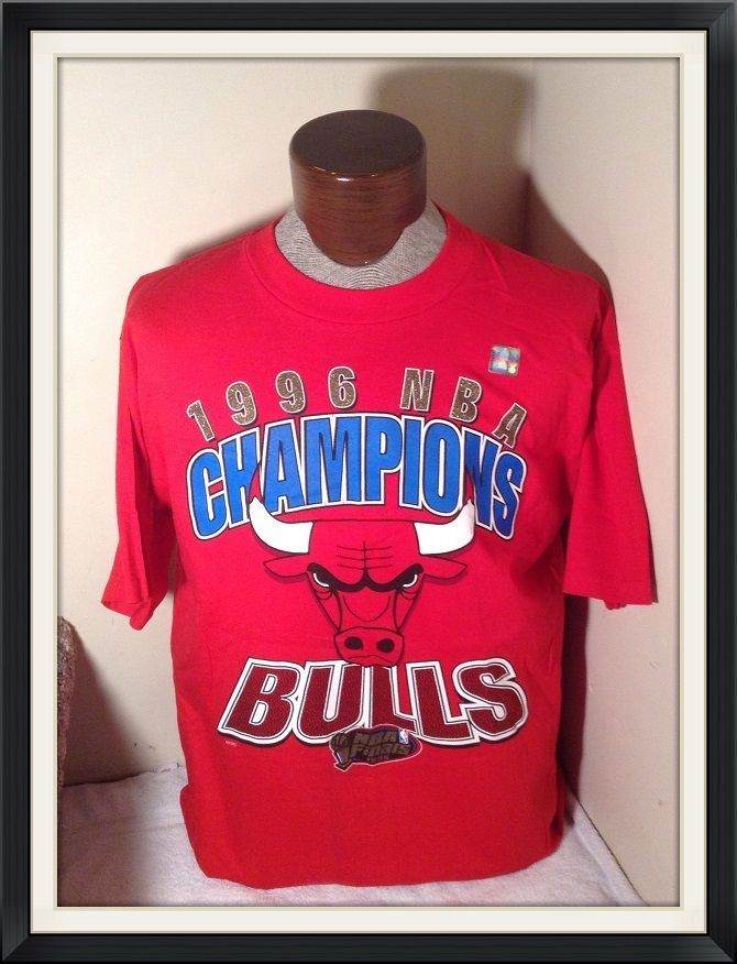 NWT VINTAGE 1996 Chicago BULLS Championship TShirt Large OFFICIAL NBA RARE #NBA #ChicagoBulls