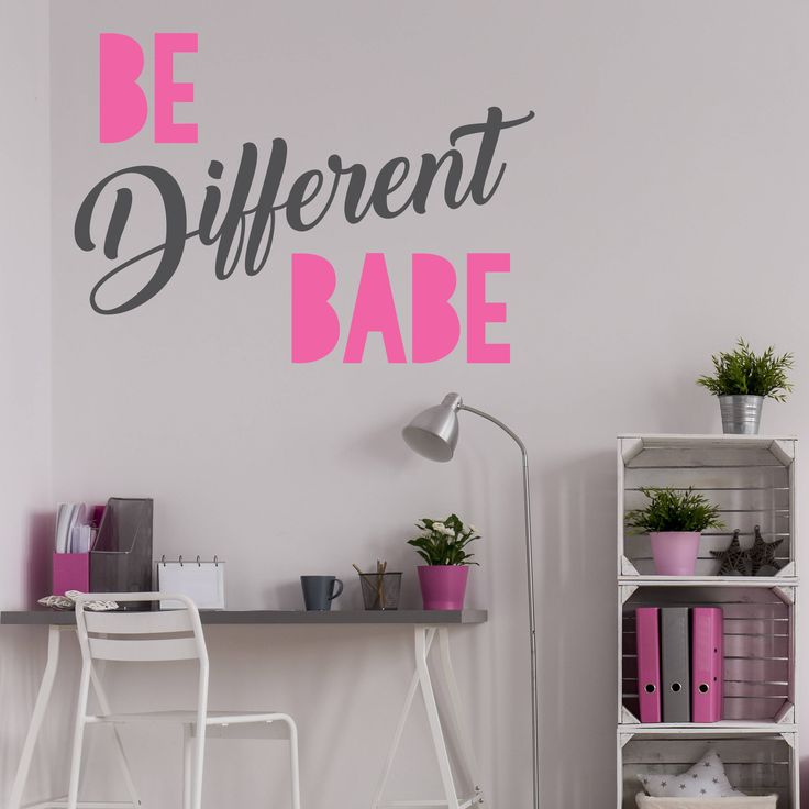 Be different babe Vinyl Wall Decal- Wall Sticker, Motivational Quotes, Life Saying, Gift for her, Above the Bed, Office, Gift for her by LEVinyl on Etsy