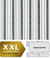 EDEM 640-96 флизелиновые обои в полоску светло-серые антрацитово-серебристые | 10,65 кв м