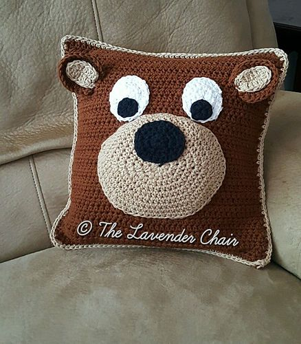 Ravelry: Teddy Bear Pillow pattern by Dorianna Rivelli