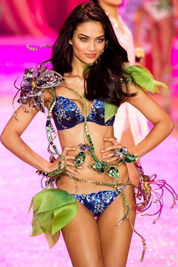 victorias secret model shanina shaik poses topless