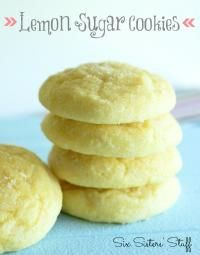 Six Sisters Lemon Sugar Cookies Recipe are super moist and loaded with lemon flavor!