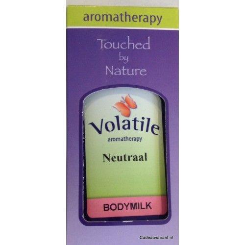 Bodymilk neutraal 100 ml Volatile  Dit is een verzorgende en voedende bodymilk. Naar wens kunt u uw favourite etherische olie toevoegen aan deze bodymilk.