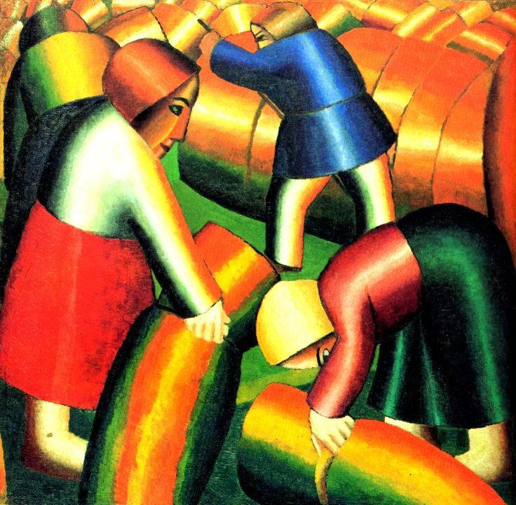 Taking in the Harvest by Kazimir Malevich #cubism