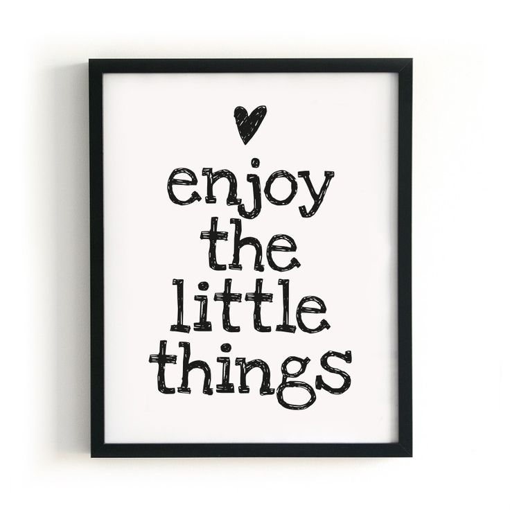 POSTER ENJOY THE LITTLE THINGS | POSTERS | posters | PAQHUIS