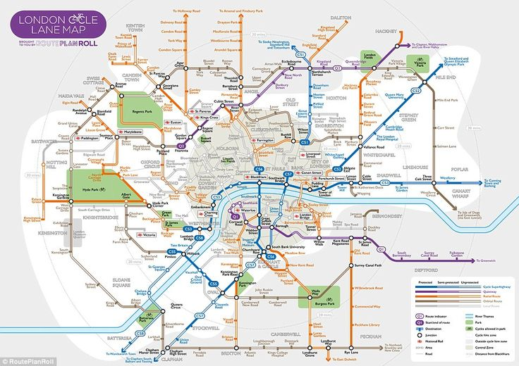A map of London's cycle lanes has been drawn up in the style of the famous Tube map...