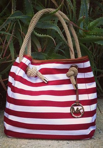 handbags red stripes   borsa righe rosse