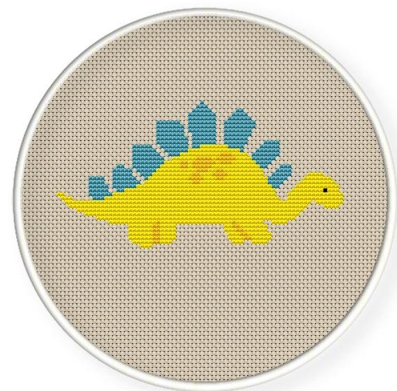 dinosaur cross stitch