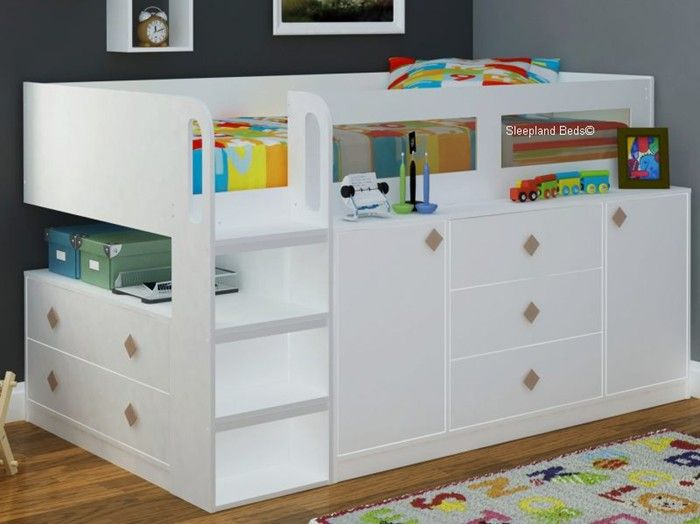 Cosmos White Cabin Bed | Children's Beds | Sleepland Beds