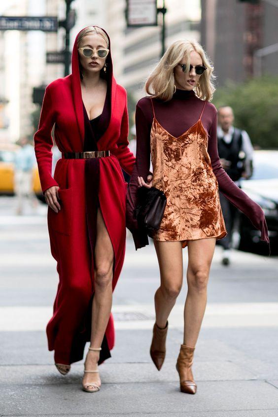 Slil dress de veludo, street style