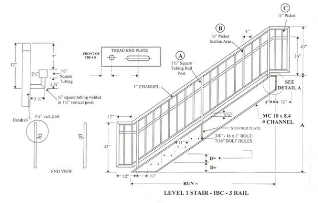specifications for staircase