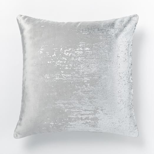 Decorative Pillow West Elm : Faded Metallic Texture Pillow Cover - Silver west elm Throw Pillows Pinterest Squares ...