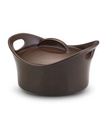 Chocolate 2.75-Qt. Casserround Covered Baking Dish