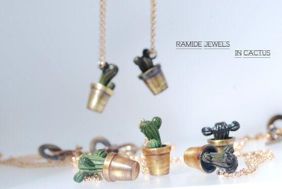 Ciondoli Cactus: lavorazione artigianale di RamideJewels su Etsy